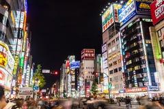 Shinjuku, область район ночной жизни известный как бессонная кудель Стоковое Изображение RF