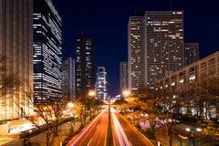 Shinjuku-Bürobereich Stockfotografie