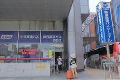 Shinjuku bus terminal Tokyo Japan Stock Photos