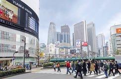 Shinjuku Busy Junction Stock Photography
