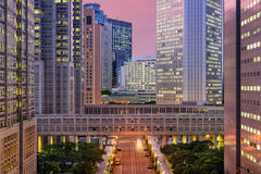 Shinjuku cityscape Stock Photos