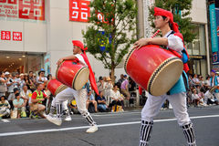 Shinjuku Eisa Festiva foto de stock royalty free