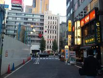 Shinjuku gatashopping Arkivfoto