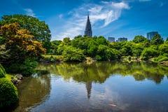 Shinjuku Gyoen trädgård Fotografering för Bildbyråer