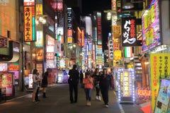 Shinjuku night cityscape Tokyo Japan Royalty Free Stock Photo