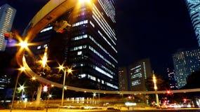 Shinjuku ocidental, Tokyo na noite Fotografia de Stock