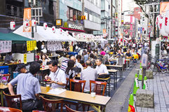 Shinjuku's beer garden Royalty Free Stock Photo