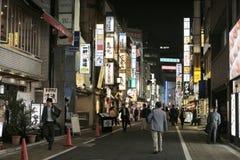 Shinjuku's Kabuki central road in tokyo , Japan. The Shinjuku's Kabuki central road in tokyo , Japan Royalty Free Stock Images