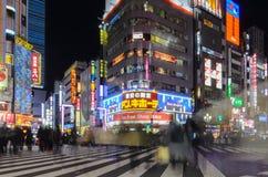 Shinjuku's Kabuki central road in tokyo , Japan. Tokyo, Japan - January 25, 2016: Shinjuku's Kabuki central road in tokyo , Japan Royalty Free Stock Photography