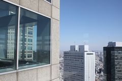 Shinjuku Skyline from Tokyo Metropolitan Government Building Royalty Free Stock Photo