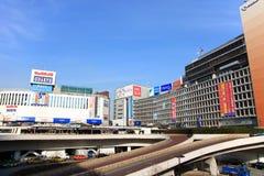Shinjuku stacja, Tokio, Japonia Obrazy Stock