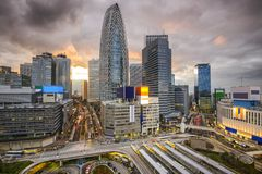 Shinjuku, Tokio, Japonia pejzaż miejski Obraz Royalty Free
