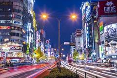 Shinjuku. TOKYO - DECEMBER 29: Billboards in Shinjuku's Kabuki-cho district December 29, 2012 in Tokyo, JP. The area is a nightlife district known as Sleepless Royalty Free Stock Photography