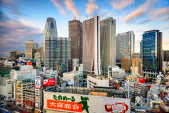 Shinjuku, Tokyo Financial District Skyline Royalty Free Stock Images