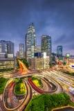 Shinjuku, Tokyo, Japan Cityscape. Tokyo, Japan cityscape over traffic loops in the Shinjuku financial district at night Stock Image