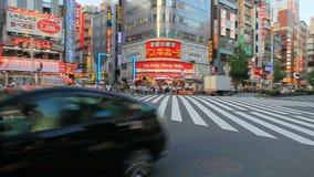 SHINJUKU TOKYO JAPAN-SEPTEMBER 11 : shinjuku important landmark and shopping area in heart of tokyo on september 11, 2015 in Tokyo. Japan stock footage