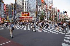SHINJUKU TOKYO JAPAN-SEPTEMBER 11: viktig gränsmärke för shinjuku Arkivbild