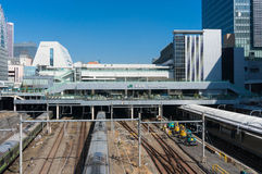 Shinjuku train station Southern terrace exit. Tokyo, Japan - Mar 18, 2016 : Shinjuku train station. Shinjuku is the one of the biggest train station in Japan Royalty Free Stock Photography
