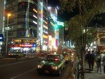 Shinjuku ulica w nocy Obrazy Royalty Free