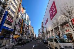 Shinjukudistrict in Tokyo, Japan Stock Foto's