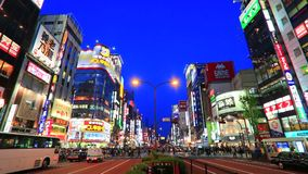 Shinjyuku,东京,日本 股票视频