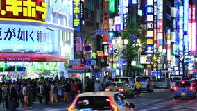 Shinjyuku, Tokio, Japón almacen de video