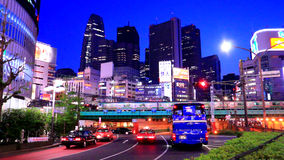 Shinjyuku, Tokio, Japón almacen de metraje de vídeo