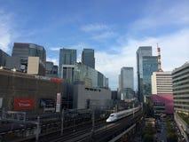 Shinkansen在东京 库存照片