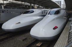 Shinkansen培训 免版税库存图片
