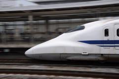 Shinkansen Bewegen stockfoto