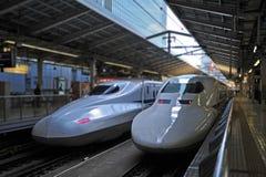 Shinkansen bullet train. At station Royalty Free Stock Photography