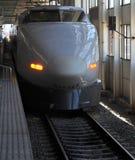 Shinkansen bullet train. At station Stock Photography