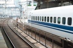 Shinkansen bullet train. Tokyo, Japan - May 17, 2012: Shinkansen bullet train at Tokyo main railway station in May 17, 2012 Tokyo, Japan.Shinkansen is world's Stock Images