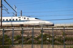 Shinkansen bullet train in Japan. Stock Images