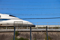 Shinkansen bullet train in Japan. Stock Image