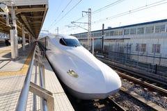 Shinkansen Bullet Train at Tokyo, Japan Stock Image