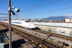 Shinkansen Bullet Train at Tokyo, Japan Royalty Free Stock Photography