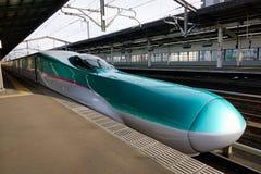 Shinkansen che si ferma alla stazione a Tokyo, Giappone Immagini Stock Libere da Diritti