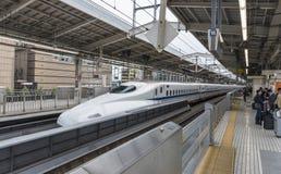 Shinkansen drevstation Kyoto Japan Royaltyfri Bild