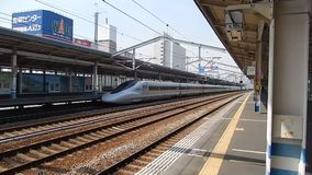 Shinkansen, Fukuyam, Japan stock video footage