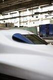 Shinkansen-Geschwindigkeitszug Stockfotos
