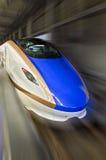 Shinkansen high-speed bullet train with motion blur. Stock Photography