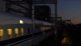 Shinkansen high speed bullet train stock footage
