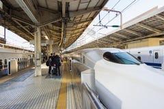 Shinkansen i Tokyo, Japan Royaltyfri Fotografi
