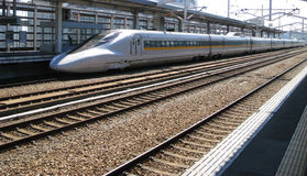 Shinkansen - japanese bullet train Stock Images