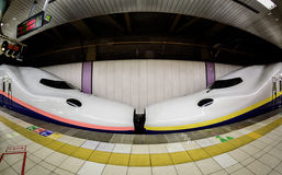 Shinkansen kiss in Ueno station, Japan Stock Photo