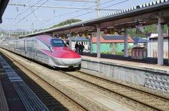 Shinkansen Komachi火车 库存图片