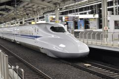 Shinkansen moving Stock Photos