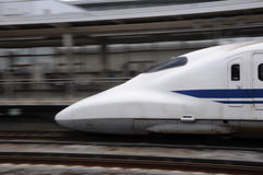 Shinkansen moving Stock Photo