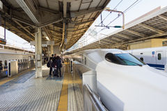 Shinkansen no Tóquio, japão Fotografia de Stock Royalty Free